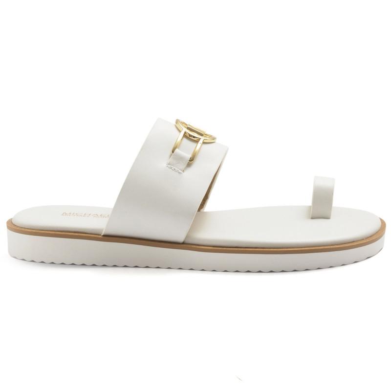 White Michael Kors Tracee toe-ring sandals