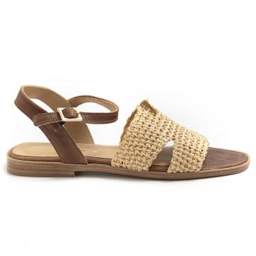 sandalen damen fiorina  s189463 nat cuoio 7425