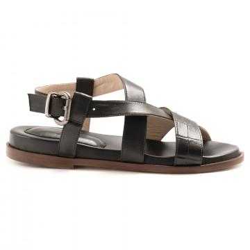 sandals woman lorenzo masiero 210051bcocco nero 6924