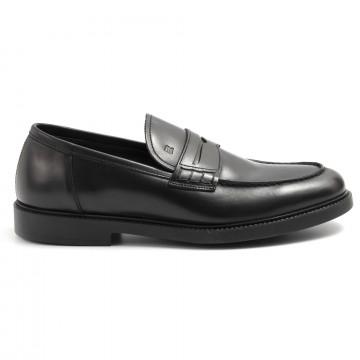 loafers man fratelli rossetti 44953pl36601 galvest nero 7408
