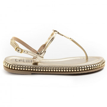 sandals woman cecile 2388mirva platino 7431