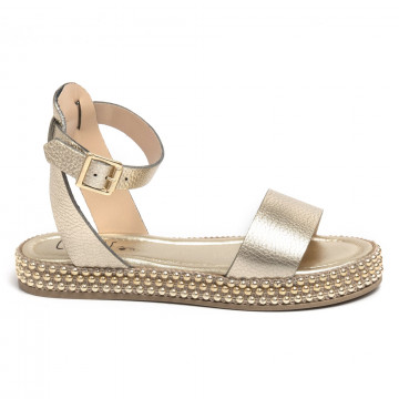 sandals woman cecile 2344spacc platino 7339