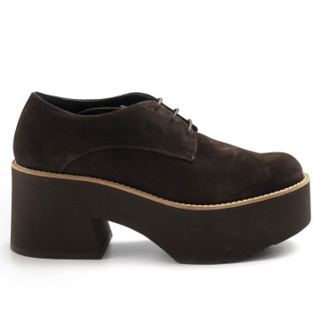 lace up woman paloma barcelo monsarazsuede cacao 7457