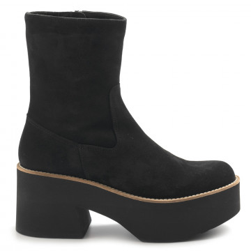 booties woman paloma barcelo covillasuede black 7459