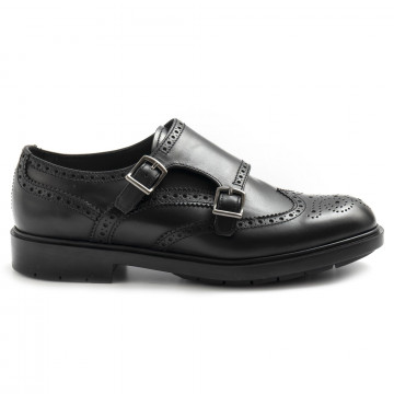 loafers woman fratelli rossetti 76193lady galv nero 7469