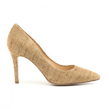 pumps woman larianna de 1002canvas cuoio 2909