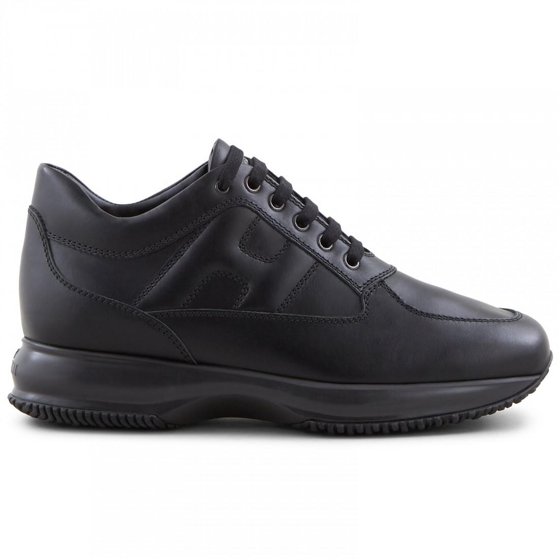 Men's Hogan Interactive sneakers in black leather