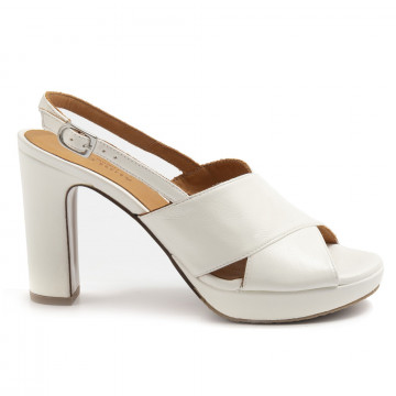 sandals woman audley 21541off white nappa 7415