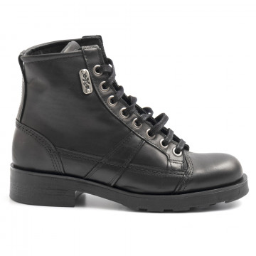 military boots woman oxs frank 1901 wleather black 6327