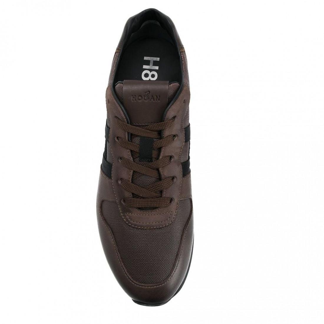 Men's Hogan H383 sneaker in brown leather