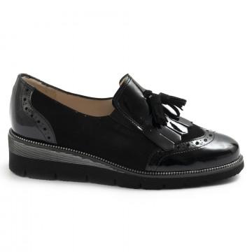 loafers woman sangiorgio 100camoscio nero 7705