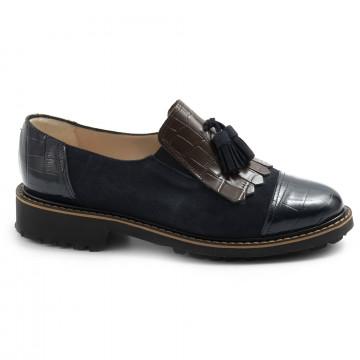 loafers woman sangiorgio 101camoscio blu 7709