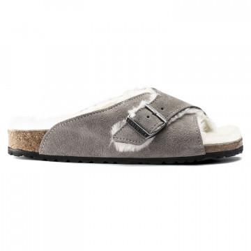sandalen damen birkenstock arosa shearling1017965 7750