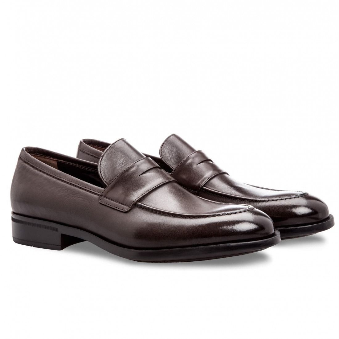 loafers man moreschi sligodark brown 4139