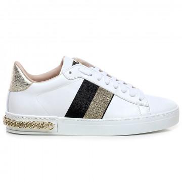 sneakers woman stokton 741dvit bianco nero 7580