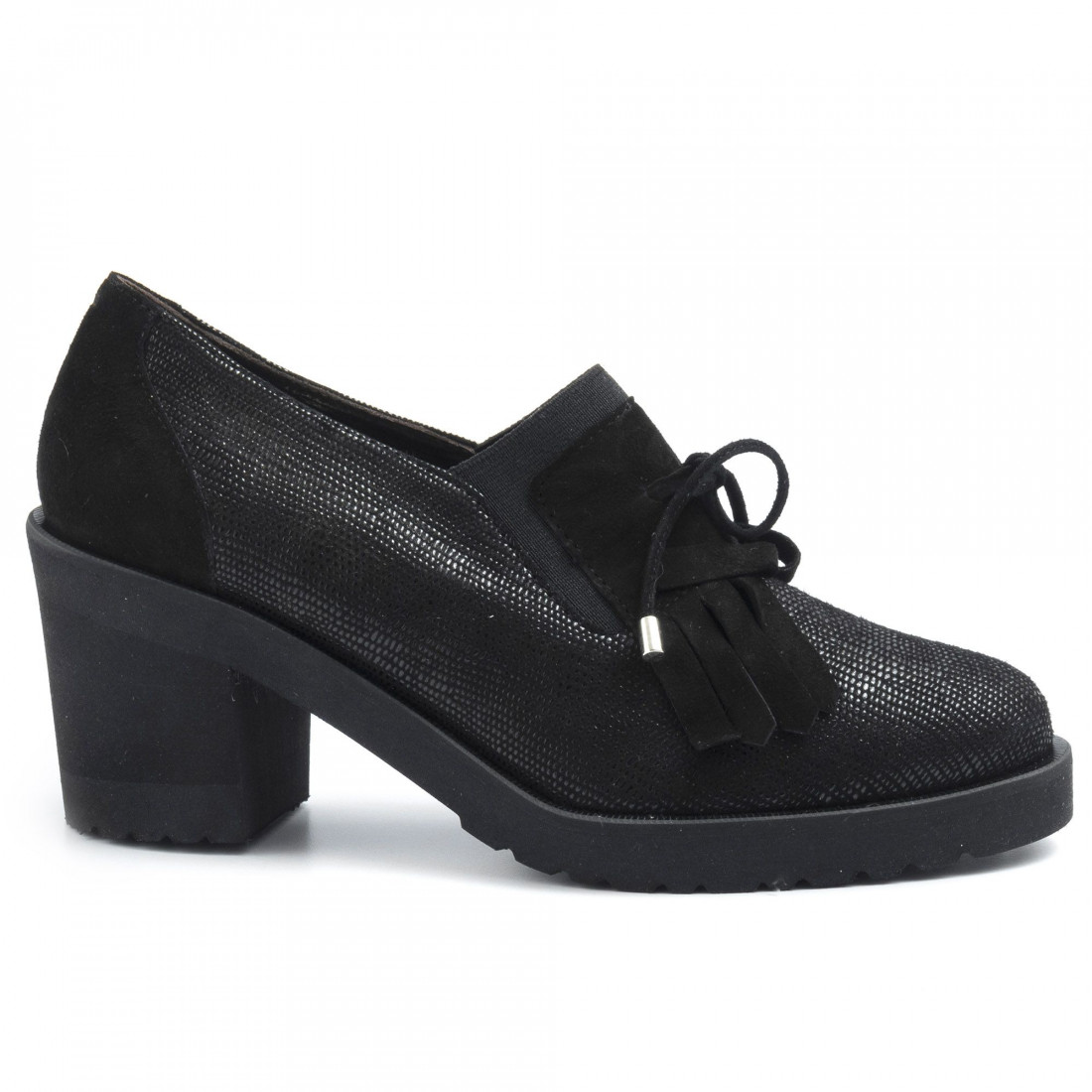 loafers woman sangiorgio 12711miu cam nero 6383