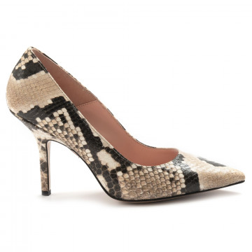 pumps woman anna f 7372pitone sabbia 6844