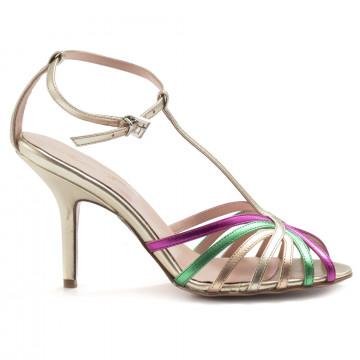 sandals woman anna f 3147camoscio plat fuxia 6961