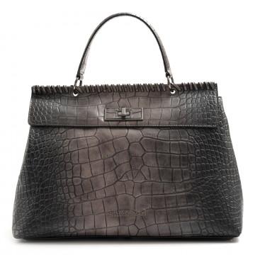 handtaschen damen ermanno scervino 1063iona dark brown 7531