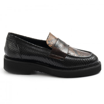 loafers woman carmens a46069pitone nero 7795