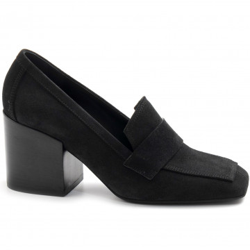 loafers woman lella baldi lt162peach nero 7849