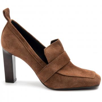 loafers woman lella baldi lt168peach castagna 7848