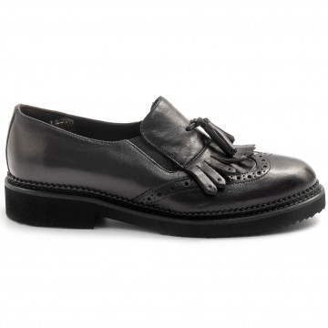 slip on woman sangiorgio d603montone nero 7899