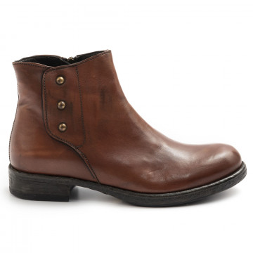 booties woman sangiorgio d413softy cuoio 7900