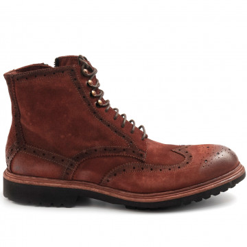 lace up ankle boots man barrows 482nefer brandy 7908