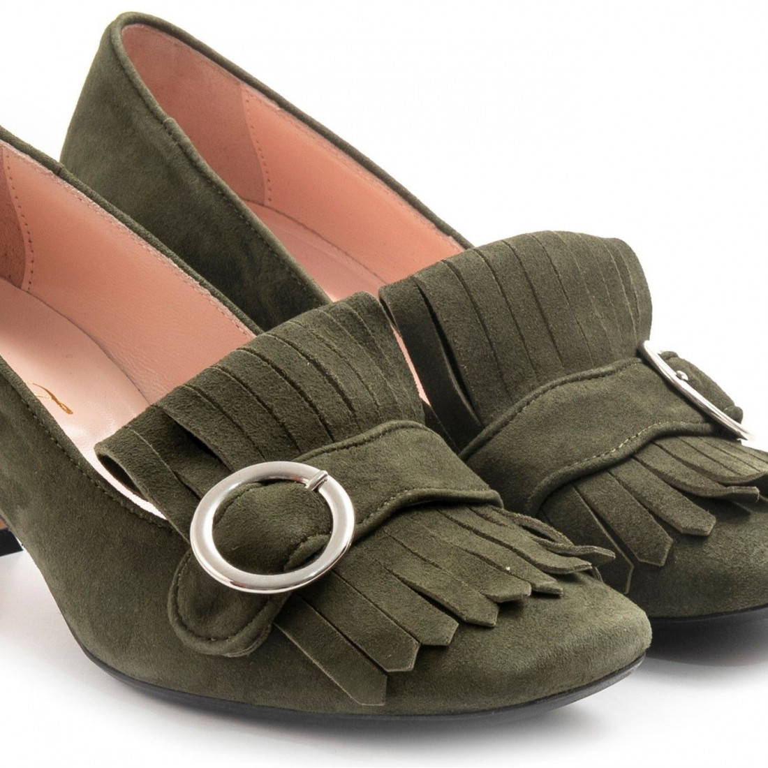 loafers woman anna f 1281camoscio verde mil 7912