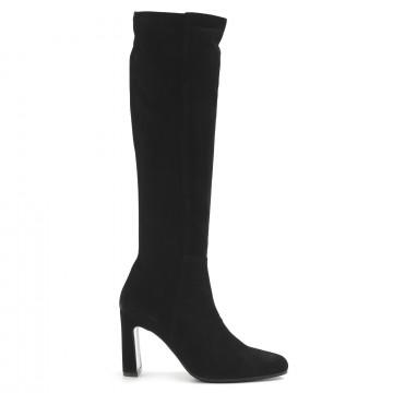 stiefel  boots damen lorenzo masiero w205920camoscio nero 7685