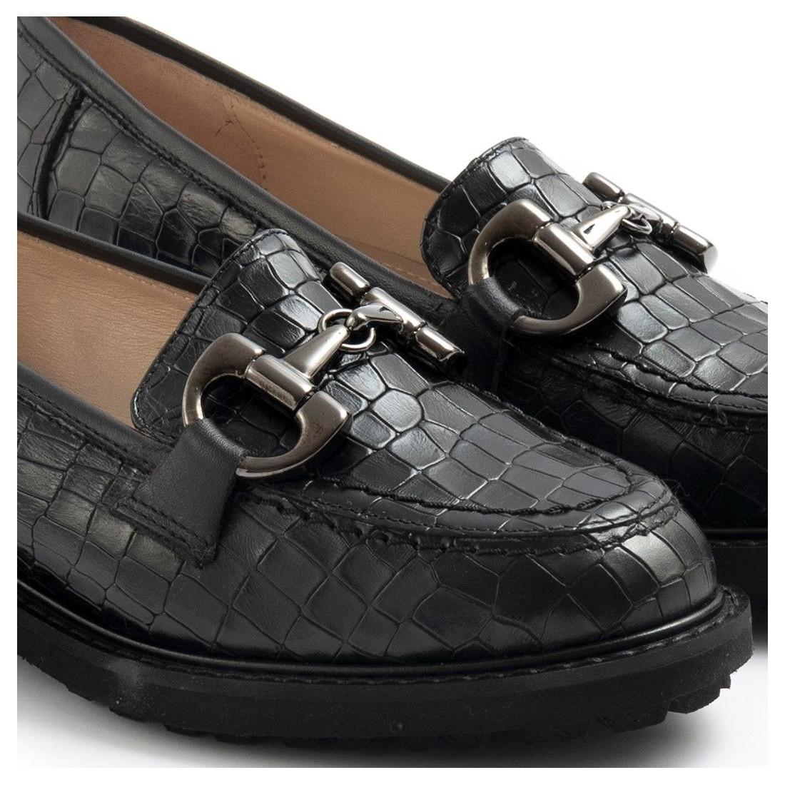 loafers woman sangiorgio 096cocco nero 7696