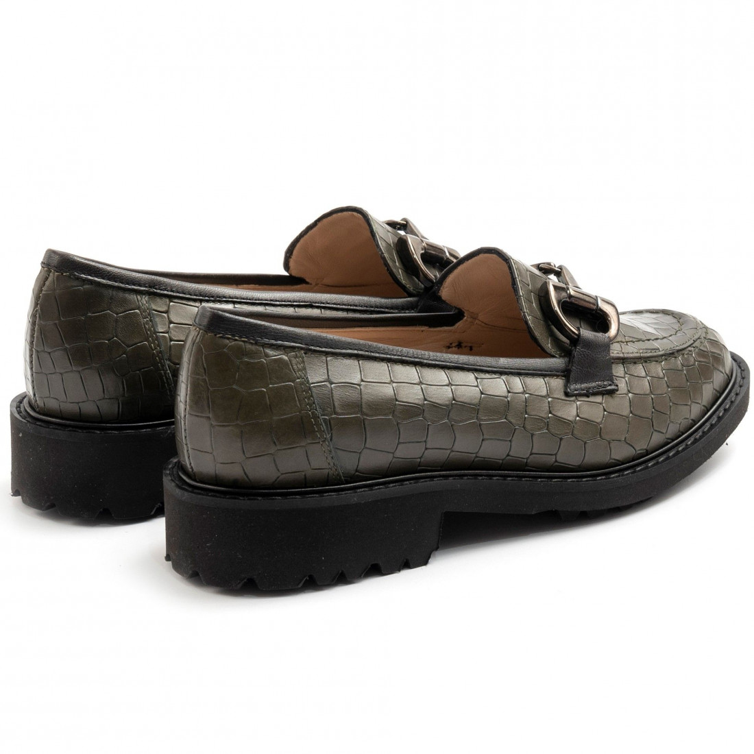 loafers woman sangiorgio 096cocco verde 7890