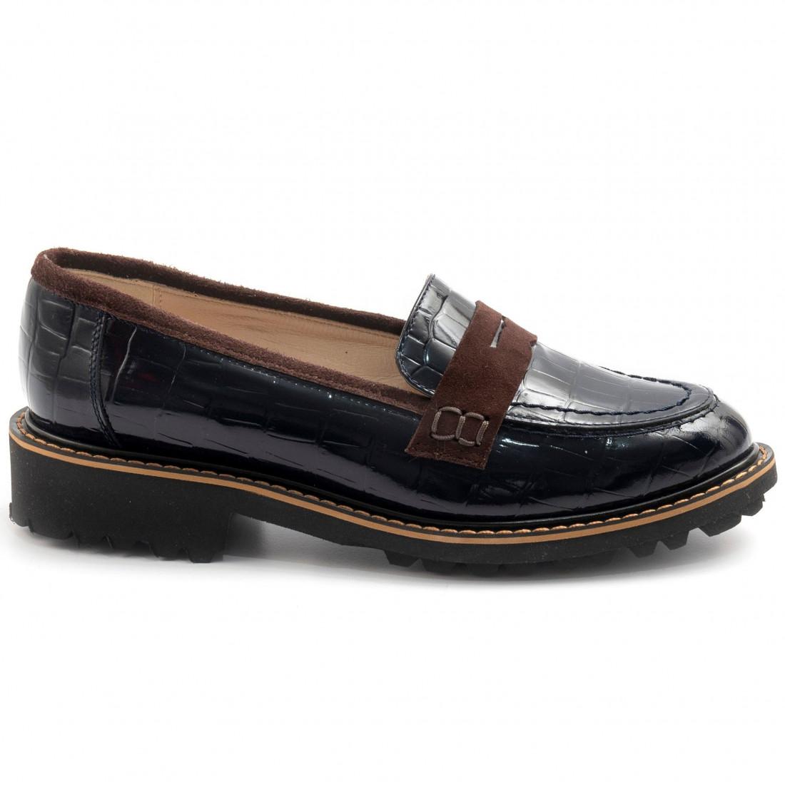 loafers woman sangiorgio 096cocco blu 7924