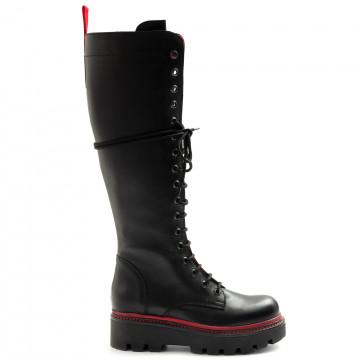 military boots woman zoe boston01vit nero 7966