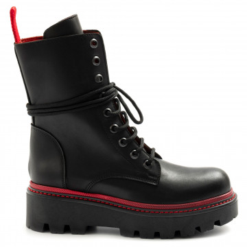 military boots woman zoe boston02vit nero 7963