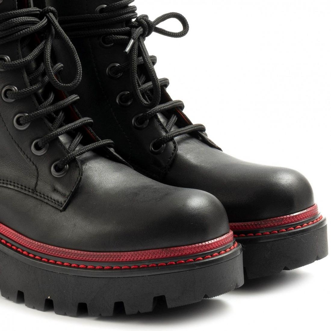 military boots woman zoe boston02vit nero 7963