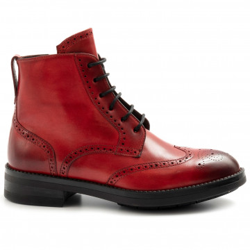 lace up woman brecos 9714capri rossa 7967