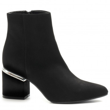 booties woman silvia rossini sr133camoscio nero 7977