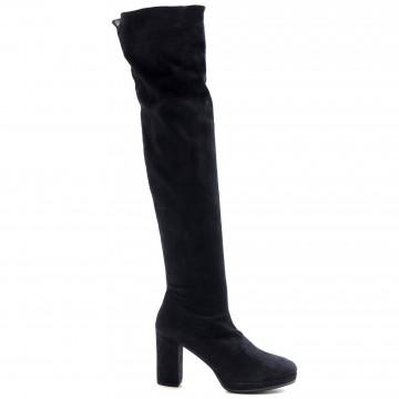 stiefel  boots damen lorenzo masiero w195208velour blu 7684