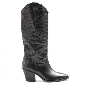 stiefel  boots damen kobra 5470vit nero pit nero 6503