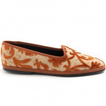 slip on woman cristinadimilano friulane damasco mattone 7867
