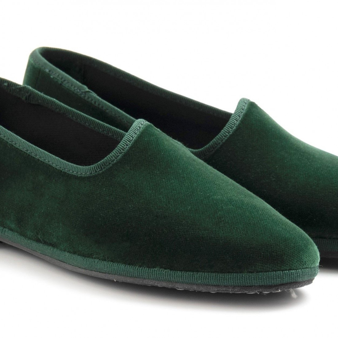 slip on woman cristinadimilano friulane verde foresta 8024