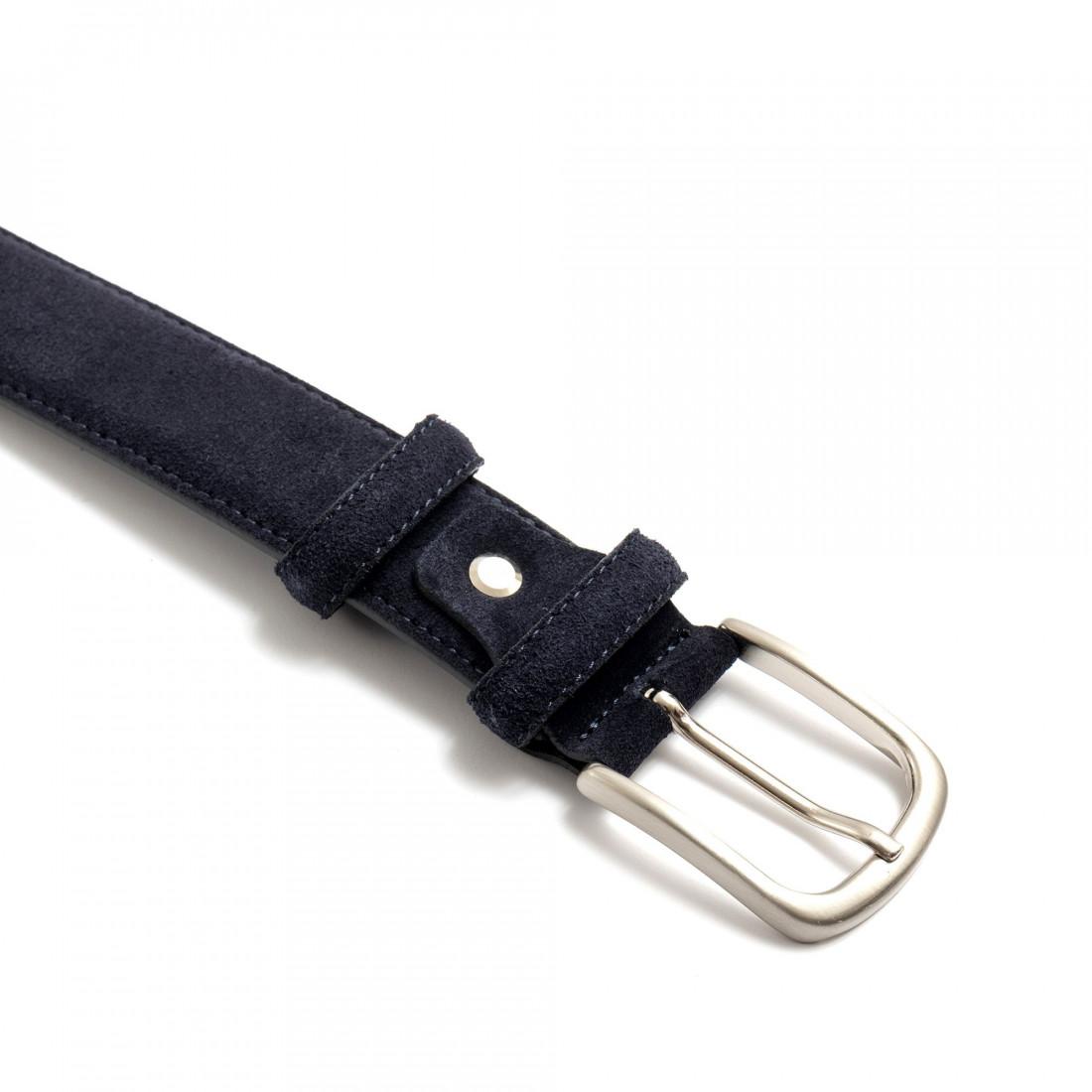 belts man sangiorgio 9009camoscio blu 7421