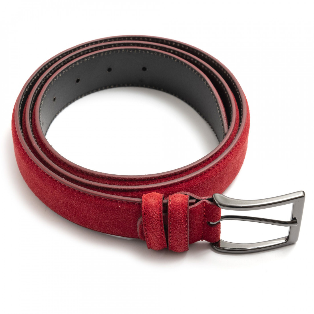 belts man sangiorgio 9009camoscio rosso 7422
