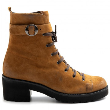 military boots woman lorenzo masiero alw21320camoscio cognac 8071
