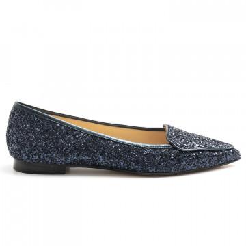 loafers woman prosperine 7783glitter nappa blu 8075