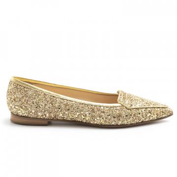 loafers woman prosperine 7783glitter lam oro 8067