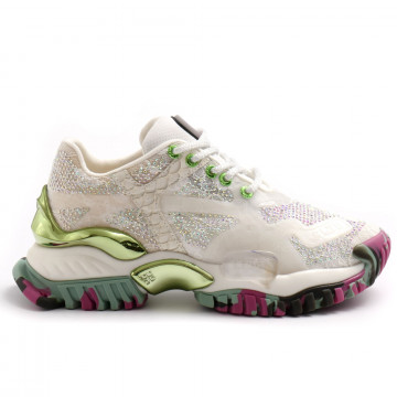 sneakers woman cljd 6f0351102 white tourquose 8142