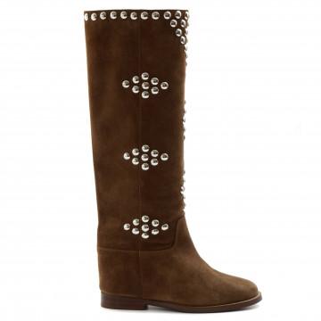 boots woman via roma 15 3500velour martora 8165